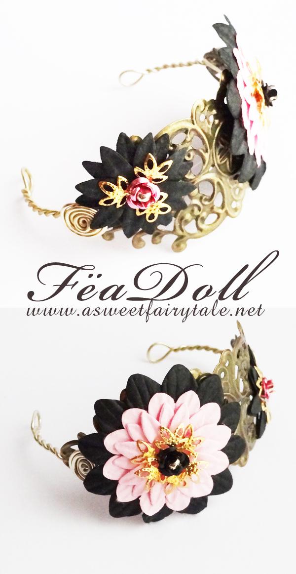 Feadoll Serre-tête pour poupée mesurant entre 5/6 inch et 6/7 de tour de tête