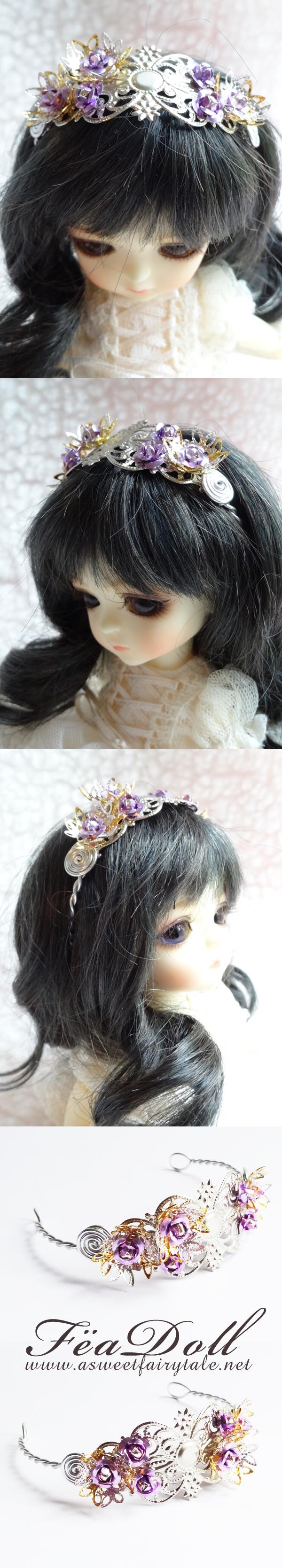 Feadoll Serre Tête pour poupée mesurant entre 5/6 inch et 6/7 de tour de tête