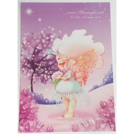 "Postcard A5  ""Licorne"""