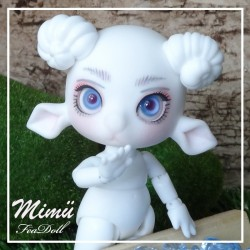 IN STOCK Tiny BJD Mimü Bélier White Skin