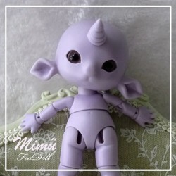 BJD Mimü Unicorn Purple Skin