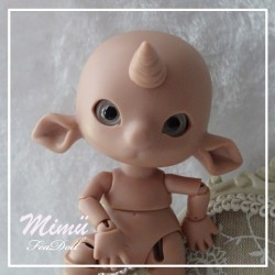 SOLD Tiny BJD Mimü Licorne Tan Skin