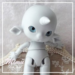 Tiny BJD Mimü Licorne Grise (Sold out)