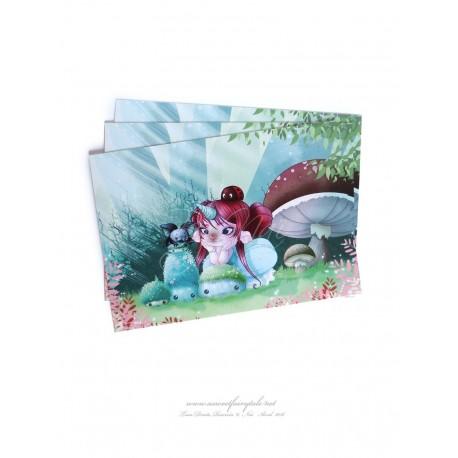 """Carte d'art """"Mimü Licorne"""""""