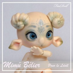 Tiny BJD Mimü Bélier Normal Skin avec Face-up