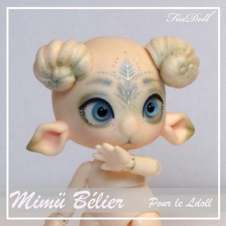 Tiny BJD Mimü Bélier Normal Skin avec Face-up