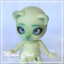 SOLD OUT Tiny BJD Mimü Chat white skin précommande