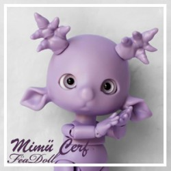 SOLD OUT Tiny BJD Mimü Cerf violet