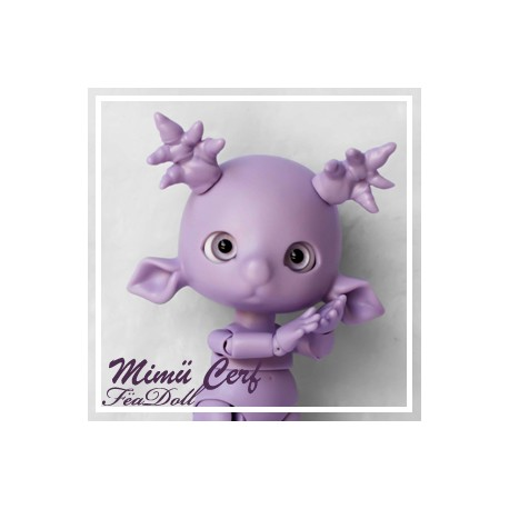 Tiny BJD Mimü Cerf violet  avec Face-up