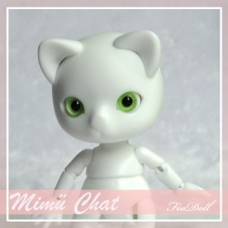 SOLD OUT Tiny BJD Mimü Chat white skin
