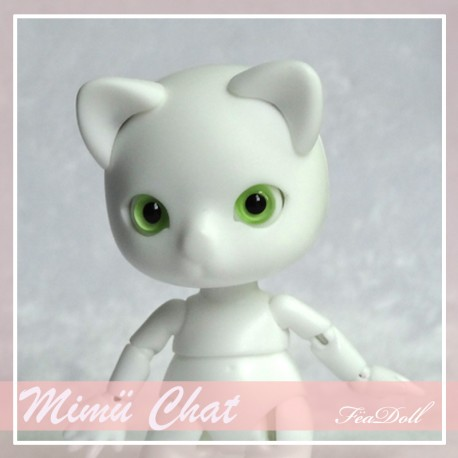 SOLD OUT Tiny BJD Mimü kitty cat white skin