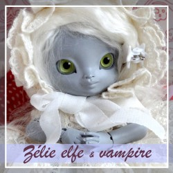 SOLD OUT Tiny BJD Zélie elfe et vampire