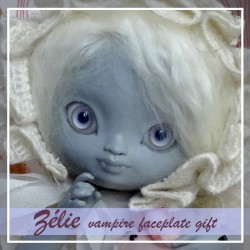 SOLD OUT Tiny BJD Zélie vampire Faceplate évènement