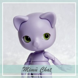 EN STOCK Tiny BJD Mimü Chat violet