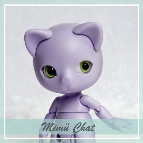 IN STOCK Tiny BJD Mimü kitty cat purple skin