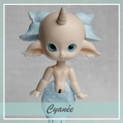 SOLD OUT Bjd sirène Cyanée Peach and Pastel Blue