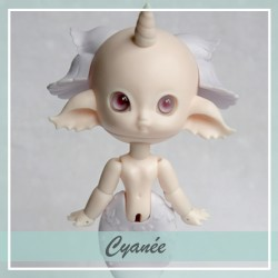 SOLD OUT  Bjd sirène Cyanée Peach and Pastel Violet