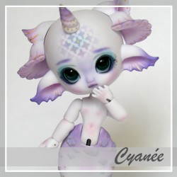 In Stock Bjd mermaid Cyanée Pastel violet custo