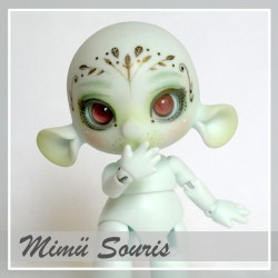 EN STOCK Tiny BJD Mimü Souris mint with make-up