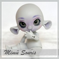 EN STOCK Tiny BJD Mimü Souris grey with make-up