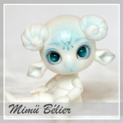 SOLD OUT Tiny BJD Mimü bélier blanc  with make-up