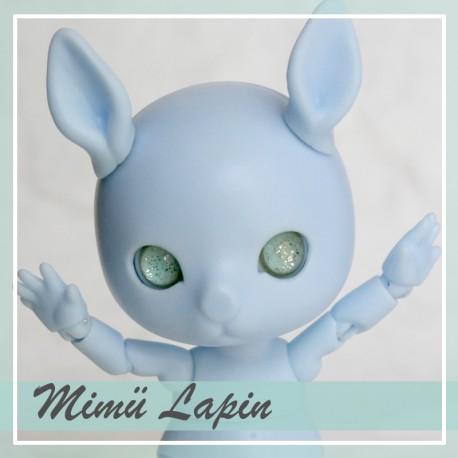 Réservée - Tiny BJD Mimü Lapin bleu