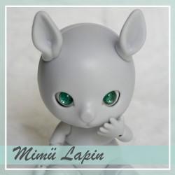 EN STOCK - Tiny BJD Mimü Lapin gris