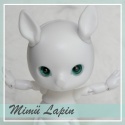 IN STOCK - Tiny BJD Mimü white bunny