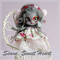 EN STOCK Tiny BJD Sëane - Grey Skin Fullset Sweet Heart