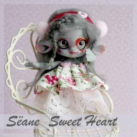 EN STOCK Tiny BJD Sëane - Grey Skin Fullset Sweet Heart