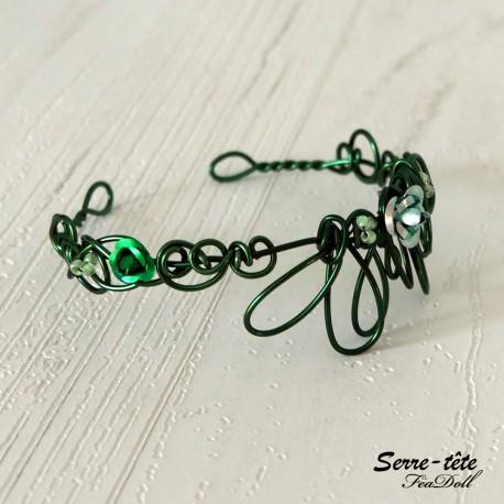 Headband for BDJ  5/6 to 7/8 Inch Fir green