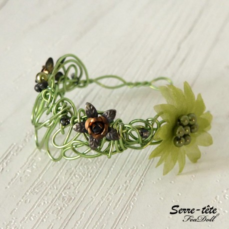 Headband for BDJ  5/6 to 7/8 Inch Apple green