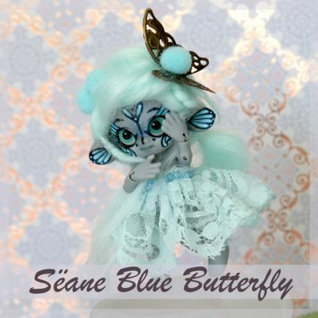 EN STOCK Tiny BJD Sëane - Grey Skin Fullset bleu butterfly