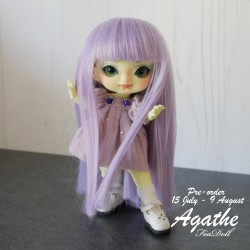 Preorder dress purple and socks cover for Agathe