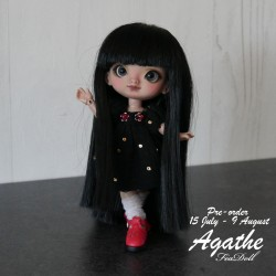 Preorder dress black and socks cover for Agathe