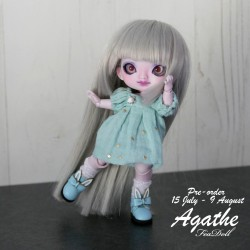 Preorder dress bleu and socks cover for Agathe